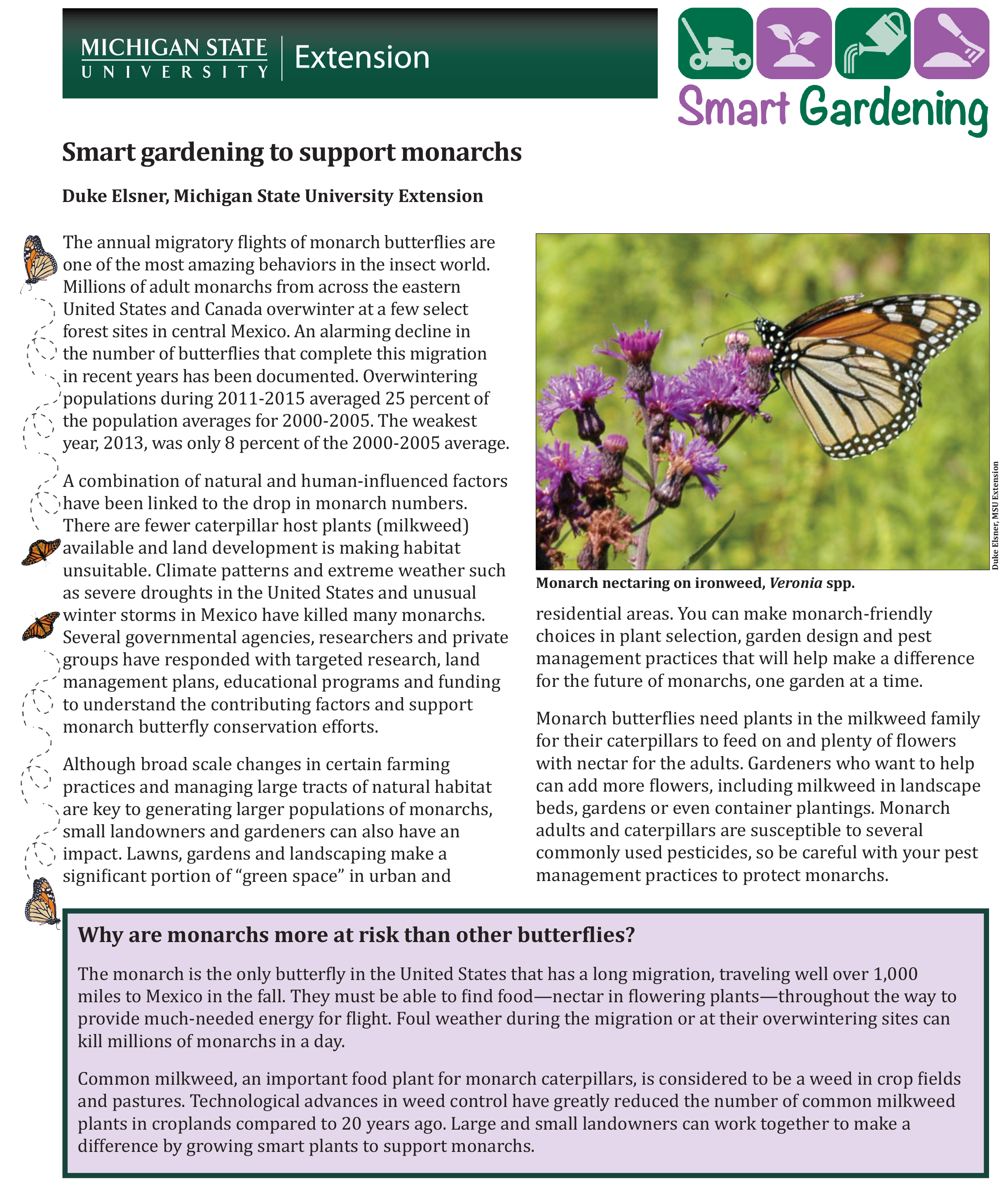 PDF cover of Smart Gardening to Support Monarchs